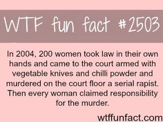 Indian women murder a rapist in court - WTF fun facts