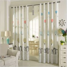 Polyester Cotton Curtains for Children Korean Style Window Treatments Cartoon Balloon Pattern Window Curtain for Kids Bedroom-in Curtains from Home & Garden on Aliexpress.com | Alibaba Group