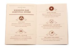 Wedding Day Survival Guide.   Guide for Wedding...cont.