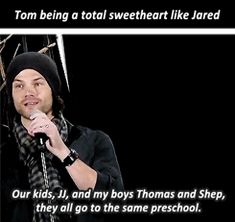 [GIF] awww <3 This is from Jared and Jensen Gold Panel at #PasCon 2015. They told a story of their kids in preschool. Click through #Supernatural Pascon15 | Jared Padalecki
