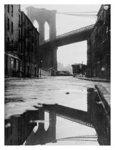 Reflecting Brooklyn Bridge Posters - AllPosters.co.uk