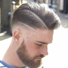 The drop fade haircut is a modern version of the popular classic fade. Just like the name implies, the drop fade haircut is cut low behind the ears, Comb Over Fade Haircut, High Fade Haircut, Wavy Hair Men, Short Hair Cuts, Skin Fade Pompadour, Men's Pompadour, Side Swept Hairstyles, Men's Hairstyles, Medium Hairstyles