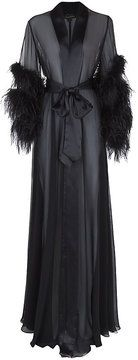 Jenny Packham Feathered Long Silk Robe