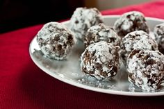 mama pea's no bake chocolate snowball cookies...with peanut butter! :)