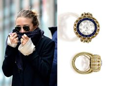 This vintage 1953 Cartier engagement ring could not be more perfect for Mary-Kate Olsen!