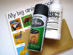love this!  make a chalkboard book from old board book....also make a fabric cover to go with it to hold the supplies.