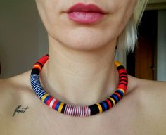 Check out this item in my Etsy shop https://www.etsy.com/listing/268192136/tribal-necklace-rope-necklace-thread