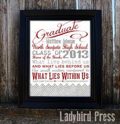 Personalized Printable Graduation Gift  PDF  by LadybirdPress, $10.00