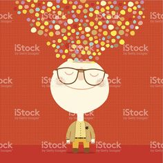 creative man with colors and shapes coming out of his head Man Vector, Free Vector Art, Image Now, Royalty, Shapes, Abstract, Creative, Illustration, Color