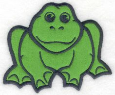 Sitting Frog applique | Applique Machine Embroidery Design or Pattern