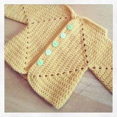 Free Crochet Hexagon Baby Sweater Pattern : Sues Hexagon - help! - ACCROchet