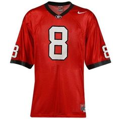 Nike Georgia Bulldogs #8 Red Twilled Replica Football Jersey  #Ultimate Tailgate #Fanatics