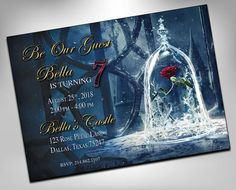 beauty and the beast, beauty and the beast invitations, belle, birthday invites, birthday invites for girls, wedding shower, sweet 16 Quince Themes, Quince Decorations, Quinceanera Decorations, Quinceanera Invitations, Quince Ideas, Sweet 16 Birthday, 16th Birthday, Birthday Parties, The Beast