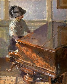 ♪ The Musical Arts ♪ music  musician paintings - Walter Richard Sickert, Tipperary 1914