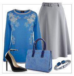 Con cuatro prendas podemos vestir de forma elegante y estilosa. Combinación de camiseta lutasha, falda, zapatos y bolso