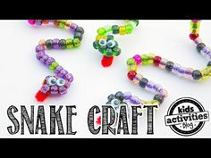 Pipe Cleaner Craft: Beaded Snakes Making a pipe cleaner craft is a great way to practice hand-eye coordination with little ones, and these beaded snakes are a fun way to do just that! Want fantastic hints concerning arts and crafts? Go to our great site! Kids Crafts, Craft Activities For Kids, Toddler Crafts, Crafts To Do, Bead Crafts, Preschool Crafts, Craft Ideas, Summer Camp Crafts, Camping Crafts