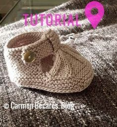 Sandalias de bebé tipo patucos a dos agujas | Manualidades