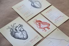 Wedding Invitations: Anatomical Heart