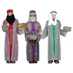 Andrea schewe bible 3 wise men costume pattern sz xs m wise man three wise men costume kids christmas nativity fancy dress solutioingenieria Choice Image