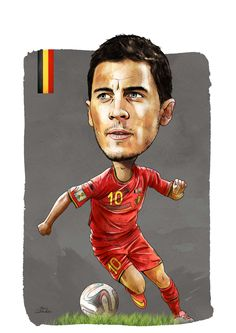 Eden Hazard cartoon #footballislife