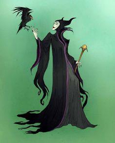 Sleeping Beauty: Maleficent by Abigail Larson * Wu Zetian, Disney Princess Tattoo, Punk Princess, Tattoo Disney, Maleficent Art, Malificent, Abigail Larson, Disney Cards, Disney Villains