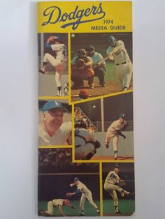59422de5d Vintage 1974 Los Angeles Dodgers Media Guide