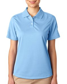 8445L UC Stain Rest Perf Polo, 8445L UltraClub« Ladies' Cool & Dry Stain-release Performance Polo Stay fresh, looking sharp, and fight stains without breaking a sweat.