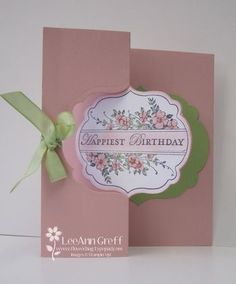 Adorning Accents Die-Cut Tutorial.  Stampin' Up! SU by LeeAnn Greff, Flowerbug's Inkspot