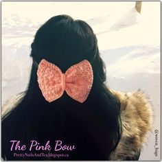 This is a very easy, quick and fun project and would be a very pretty gift for your girlfriends :-) Bow Pattern, Free Pattern, Double Crochet, Single Crochet, Gifts For Your Girlfriend, Fun Projects, Pretty Nails, Pretty In Pink, Hair Clips