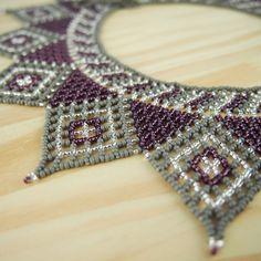 Collier perles estrella gris fait main