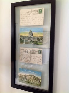 When was the last time you received a letter in the mail…just because?  And not because of an event or a birthday? Framing old postcards has been a lifelong habit of mine, but I especially love finding travel postcards of landmarks where I have personally visited. These gorgeous cards have been hanging in my office …