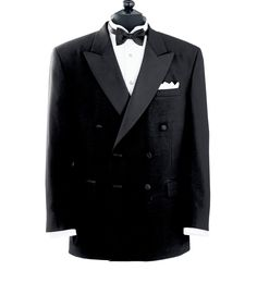 1940s Mens Clothing: Gangster and Zoot Suites Inspired Fashions: Black Double Breatsed Tuxedo Jacket