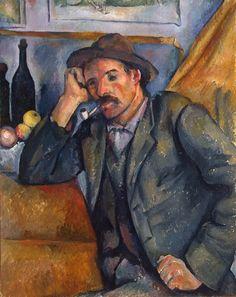 Paul Cezanne - Smoker, 1890-92 | State Hermitage Museum