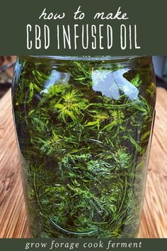 CBD oil is a healing topical home remedy with many all natural and medicinal uses! Learn how to make cannabis CBD infused oil at home with this easy recipe for beginning herbalists. CBD oil has many b Cannabis Growing, Cannabis Oil, Growing Weed, Herbal Tinctures, Herbalism, Infused Oils, Hemp Oil, Kraut, Herbal Medicine