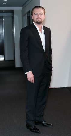 Black suit could pass for tux, and looks good.