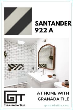 Small surprises in unlikely places! 😮 The Santander Tile from our Echo Collection is a great addition to this otherwise minimalist design with its pop of color and pattern. 📍 The Ocotillo Joshua Tree Photo: Courtesy of The Ocotillo Joshua Tree #bathroomideas #bathroomremodel Encaustic Tile, Linear Pattern, Concrete Tiles, Can Design, Other Rooms, Granada, Minimalist Design, Modern Contemporary, Interior And Exterior