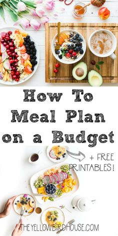 Learn how to plan meals on a tight budget as a busy family! Includes free printable shopping lists and meal planner. Create a weekly meal plan on a budget while still eating healthy & create kid friendly meal plans at low costs. Family meal plan on a budget ideas & printables.