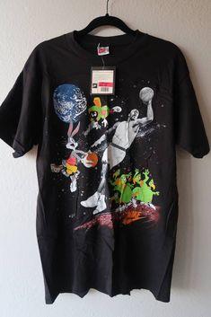 Nike Space Jam NIKE Michael Jordan Looney Tunes Vintage Shirt Size US L    EU 52 be472a20b