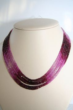 Ruby and pink sapphire necklace