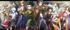 Cool wallpaper which shows the hxh and Yu Yu hakusho characters together Like and follow for more