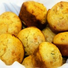 Hot moist tasty corn bread muffins made in minutes. Full recipe here