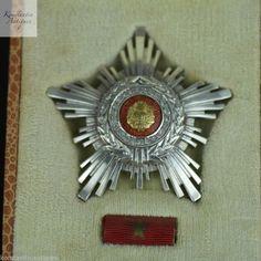 Vintage 1960s enamel solid silver order star 22 diamonds class III Romania RSR