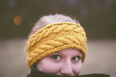 Cozy Cable Ear Warmer. $30.00, via Etsy.