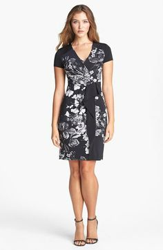 BCBGMAXAZRIA Print Side Drape Jersey Sheath Dress available at #Nordstrom