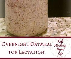 Are you a breastfeeding mom? Make this super easy overnight oatmeal lactation breakfast. A healthy breastfeeding-friendly breakfast.