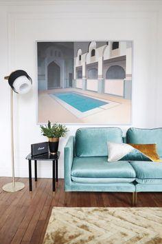 Appartement glamour de Camille Omerin, fondatrice de Maison Père // Hëllø Blogzine blog deco & lifestyle www.hello-hello.fr