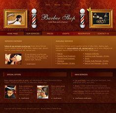 Barber Shop Website Templates by Delta