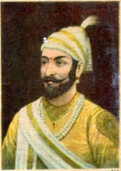 "Vinatge Raja Ravi Varma Lithograph: 'Shivaji' : 3"" x 5"""