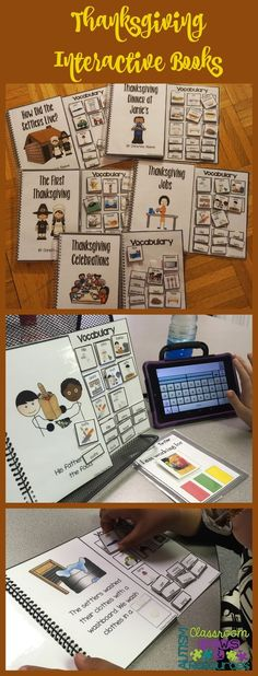 I love how these functional interactive and adapted books work for special education students for literacy, communication, and participation.  They are great for students in special education and life skills classes of all ages to practice reading with pictures and words!  These are themed for Thanksgiving with books about preparing dinner, family visiting and other related topics.