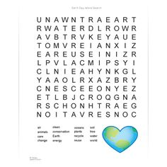 Earth Day Word Search | Spoonful